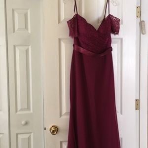 NWOT Raspberry Evening Gown